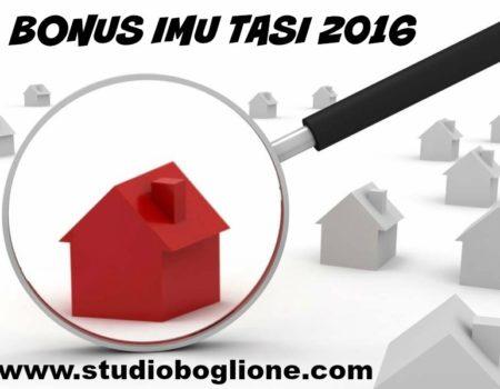 Bonus fiscale IMU e TASI 2016, come ottenere lo sconto?